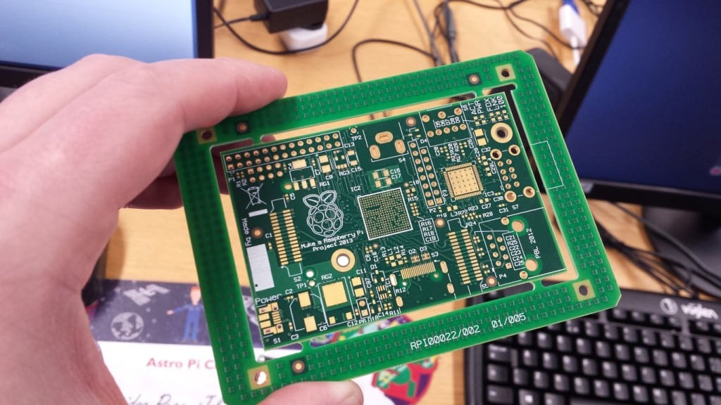 Unpopulated Raspberry Pi PCB Front