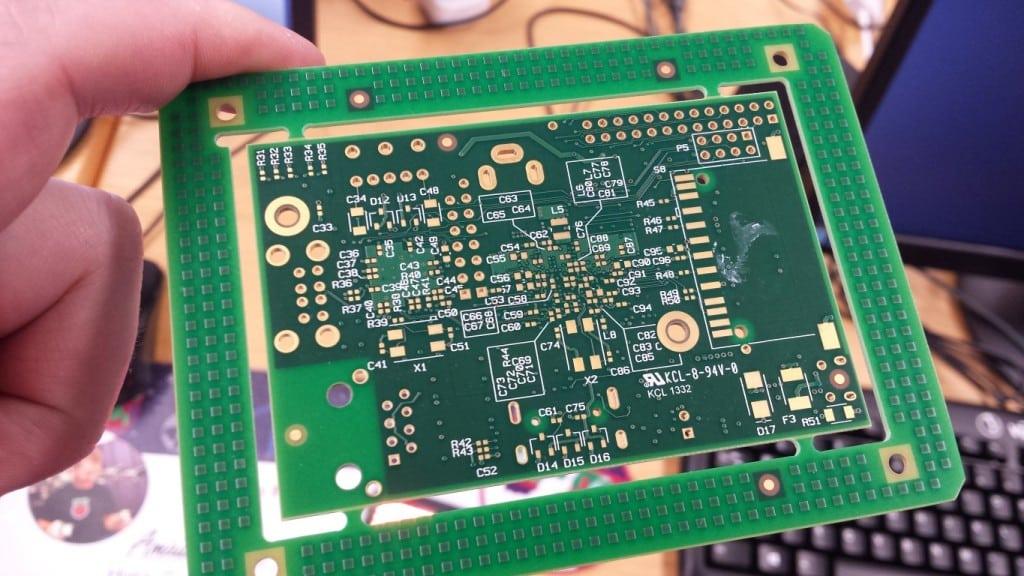 Unpopulated Raspberry Pi PCB rear