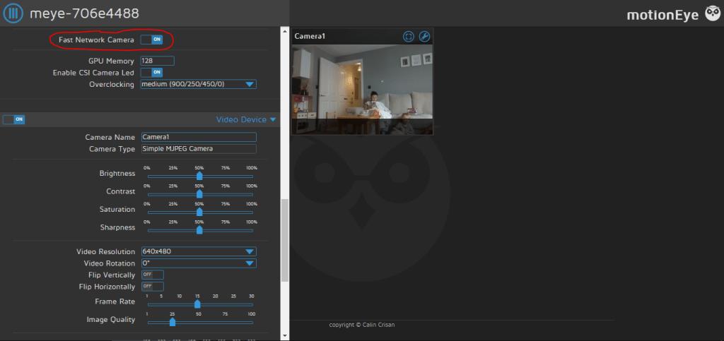 Fast Network Camera option