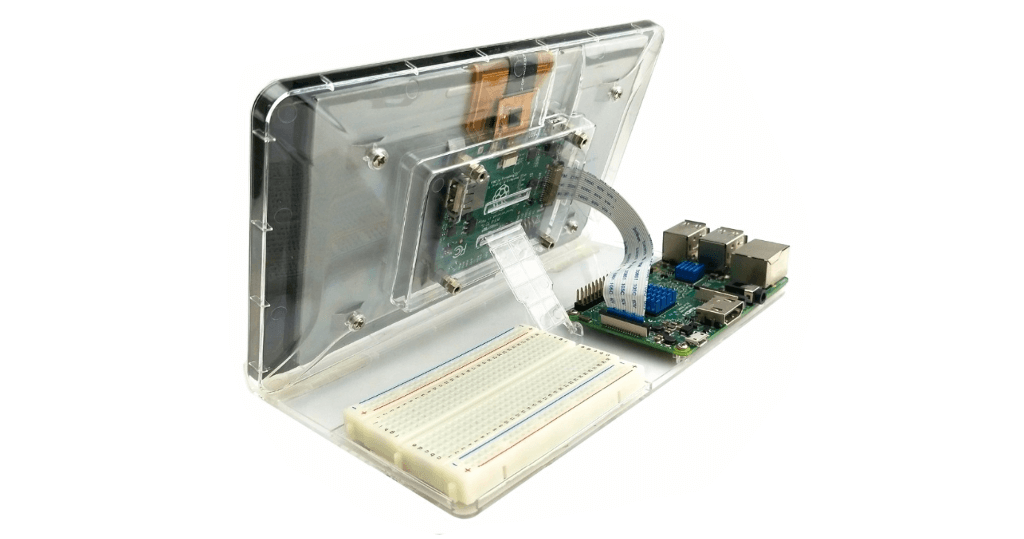 Clear ABS Pi touchscreen case