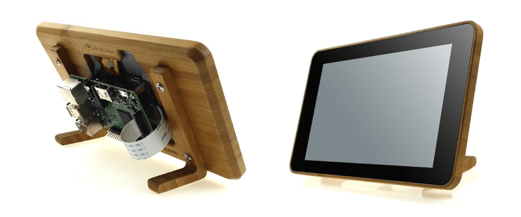 Bamboo Pi Touchscreen case