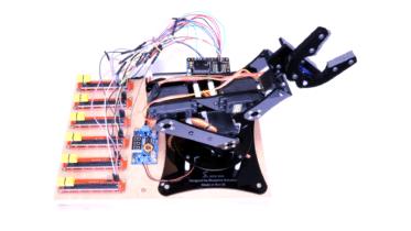 Raspberry Pi robot arm project