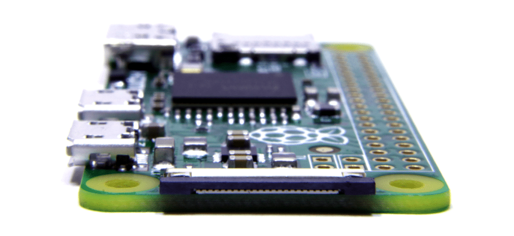 Pi Zero CSI connector side view