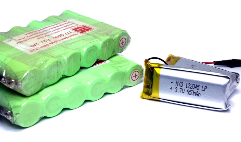 NiMH and LiPo batteries