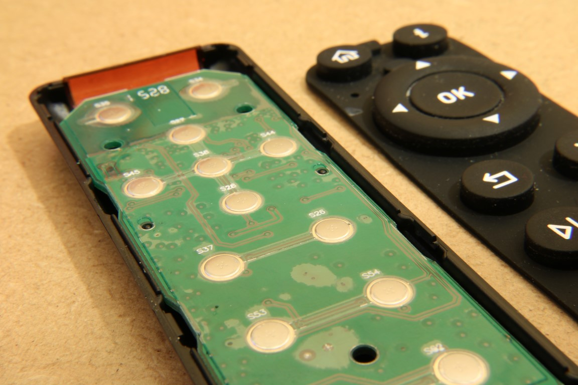 OSMC remote tactile buttons