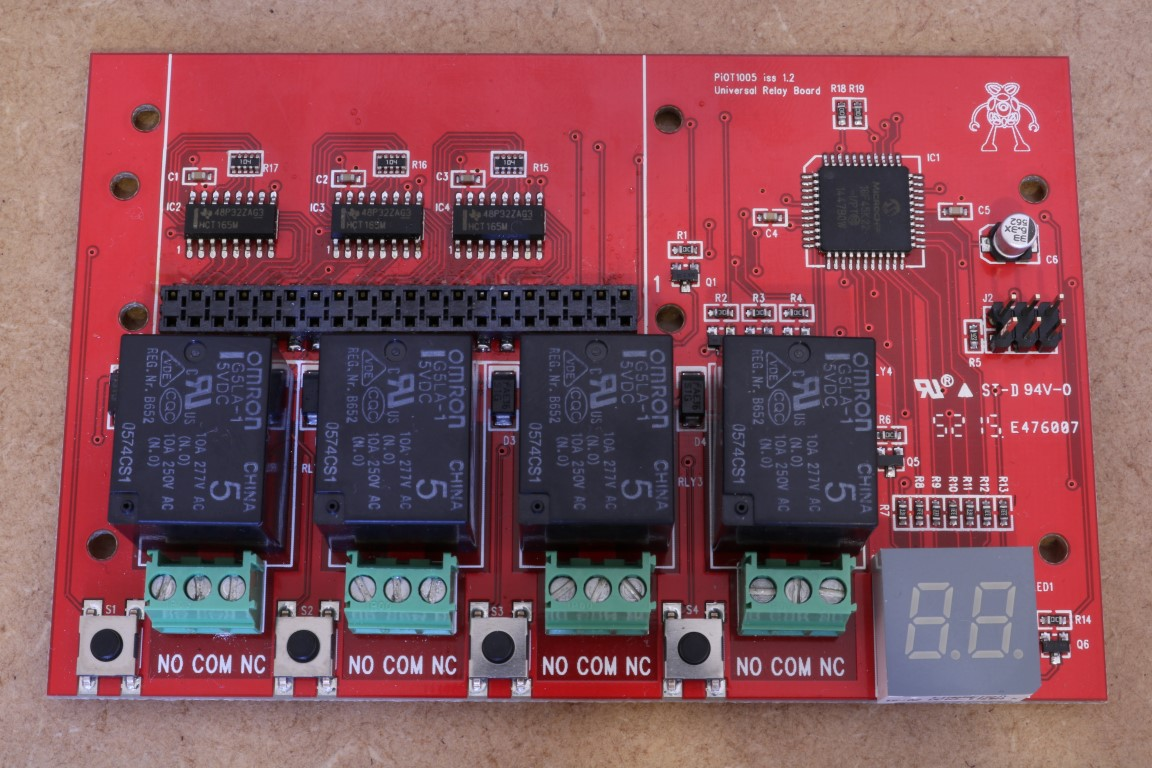 PiOT relay board front