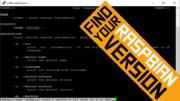 Raspbian version commands