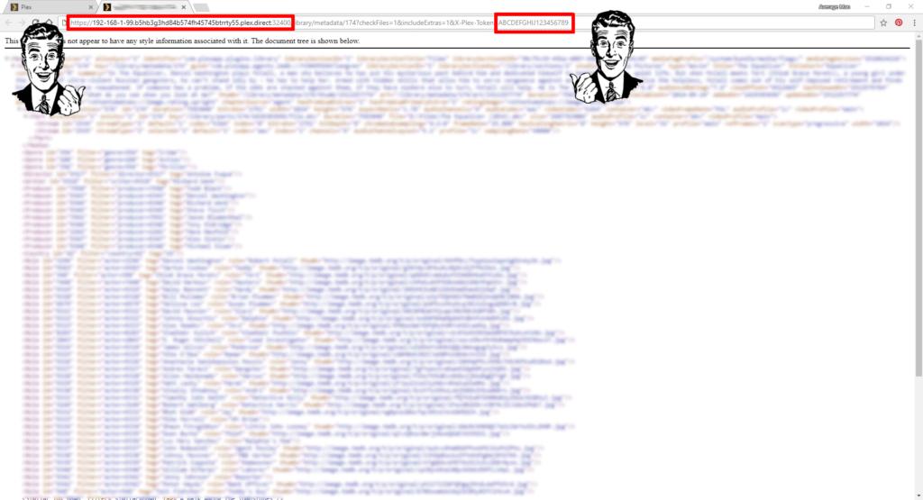 Plex URL token