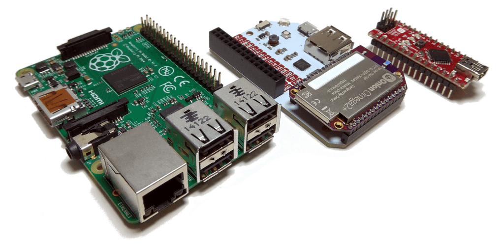 Raspberry Pi with Onion Omega and Arduino Nano