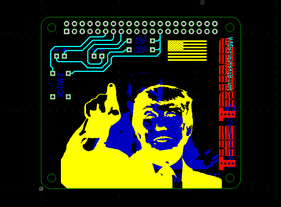 Donald Trump PCB Design