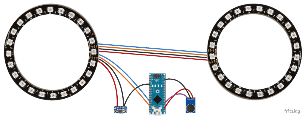 Arduino backlight Fritzing diagram