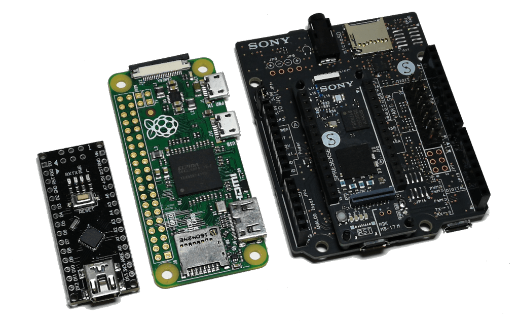 Spresense, Raspberry Pi Zero and Arduino Nano