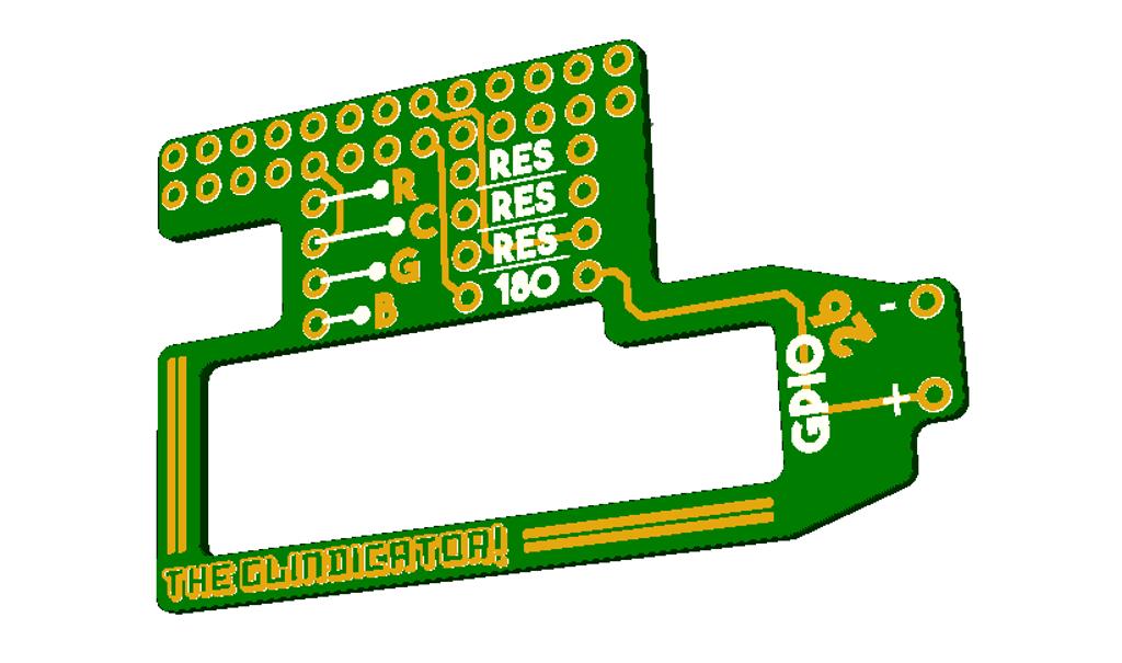 RS DesignSpark PCB 3D render