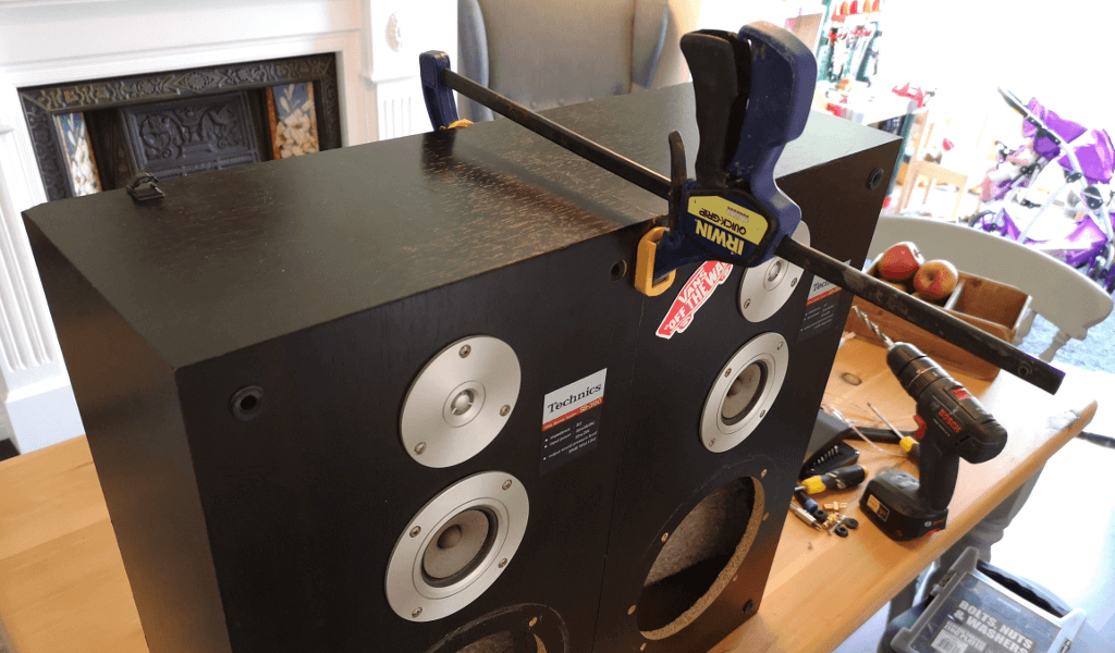 Clamped speakers